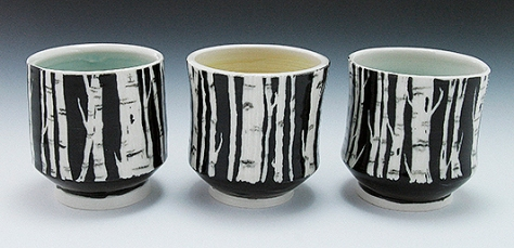 Birch Tree Sgraffito Cups-1