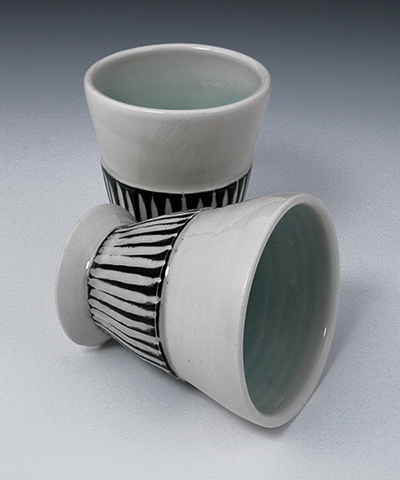 striped wine cups