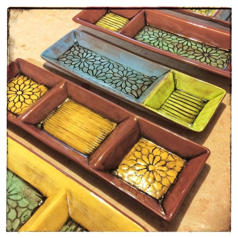 earthenware trays